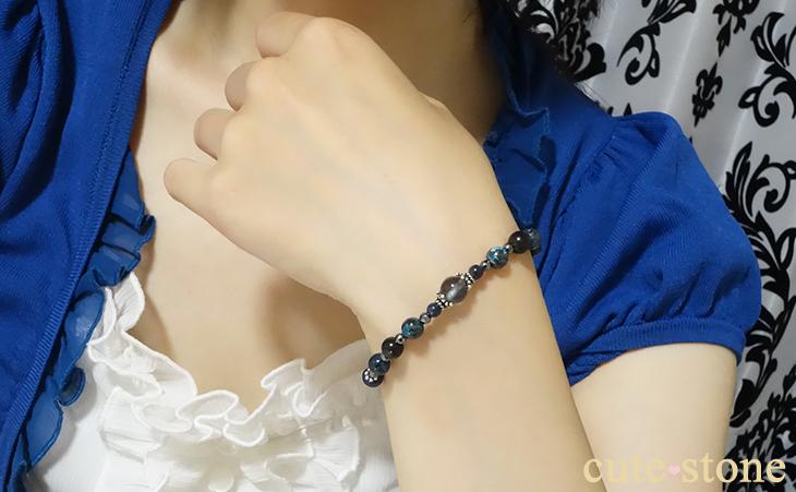 「Cosmo bracelet」ブルールチルクォーツ サハラNWA869 クリソコラ スキャポライトのブレスレット